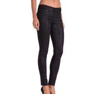 Rag & Bone The Legging Coated Black Jeans 26